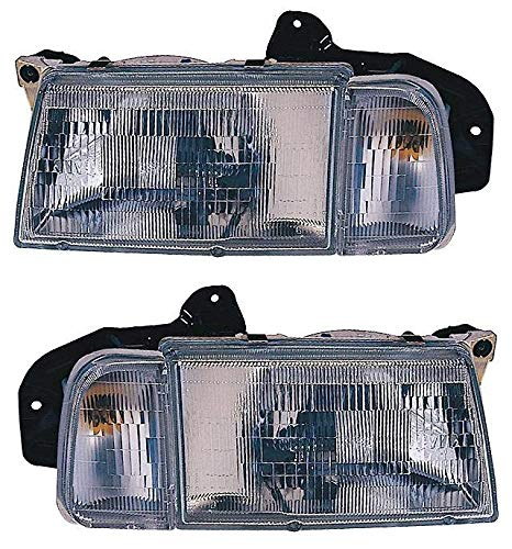 For 1990 1991 1992 1993 1994 1995 1996 1997 Geo Tracker   Chevrolet Chevy Tracker Headlights Headlamps Driver Left and Passenger Right Side Pair Set Replacement GM2502191 GM2503191 ()