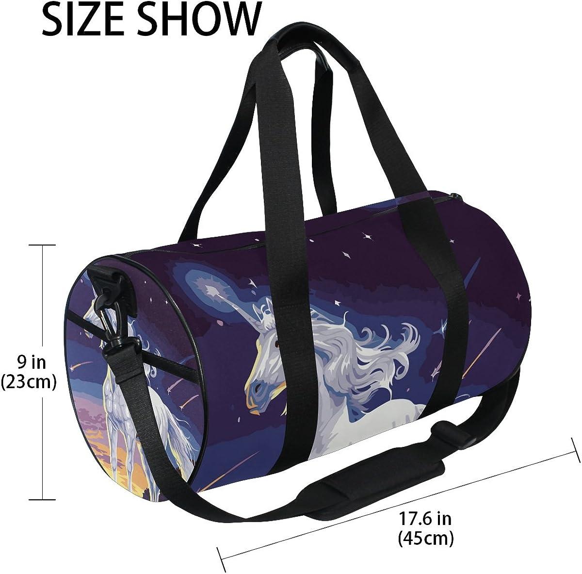 Evolutions White Unicorn Duffels Bag Sports Gym Bags for Men /& Women