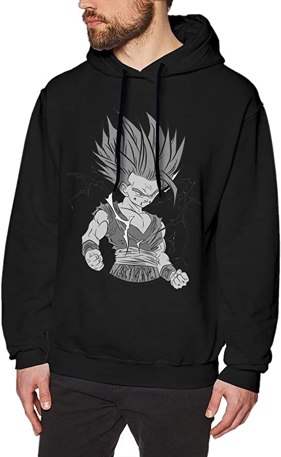 BeiTong Dragon Ball Z Saiyans Long Sleeve Tshirts Cool Tee for Man Black