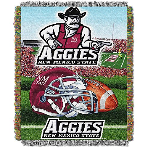 New Mexico State Aggies NCAA Triple Woven Jacquard Throw (48