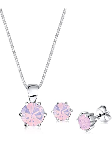 dfe807a3d36b53 Elli Women's 925 Sterling Silver Xilion Cut Swarovski Crystals Necklace  with Pendant