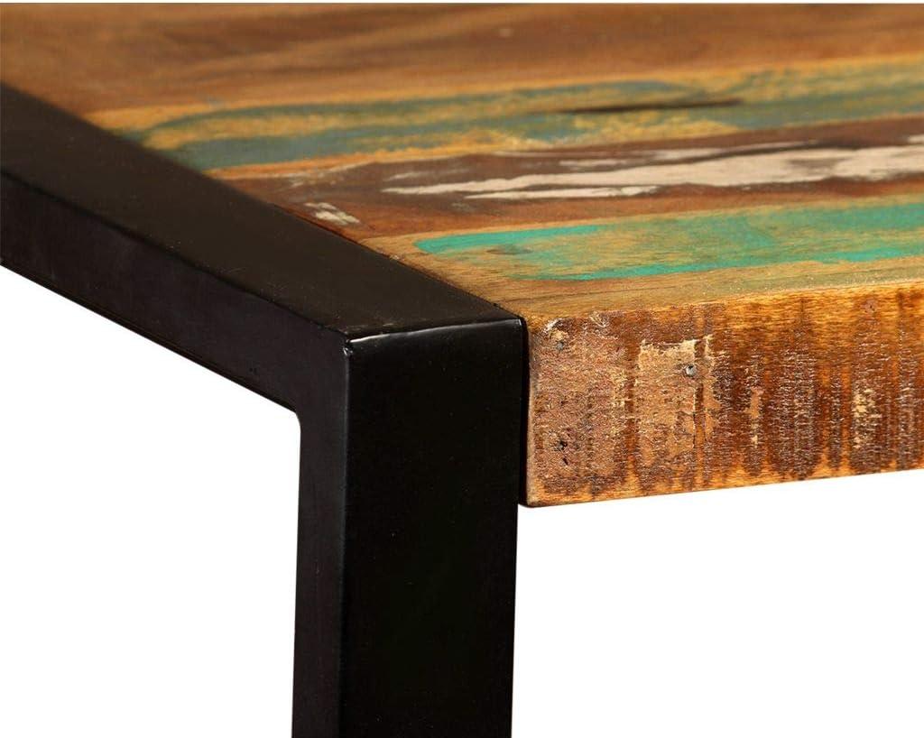 vidaXL Table Salle /à Manger Bois de R/écup/ération Massif 120 cm Table /à Manger