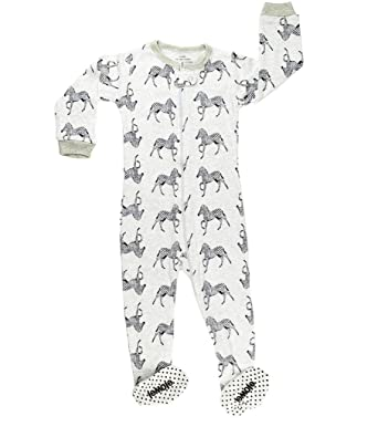 6a2cf9084c91 elowel Baby Boys Footed Zebra Pyjama Sleeper 100% Cotton (Size 6 M-5 ...