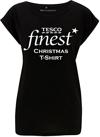 d7044ebcba7 Women s Funny Tesco Finest Christmas T-Shirt Novelty Xmas T-Shirt (Small