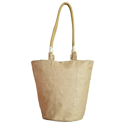 49fd9bf0736 Pack of 25 -Jute/ Burlap Tote Bag with Long cotton webbed handles and  zippered