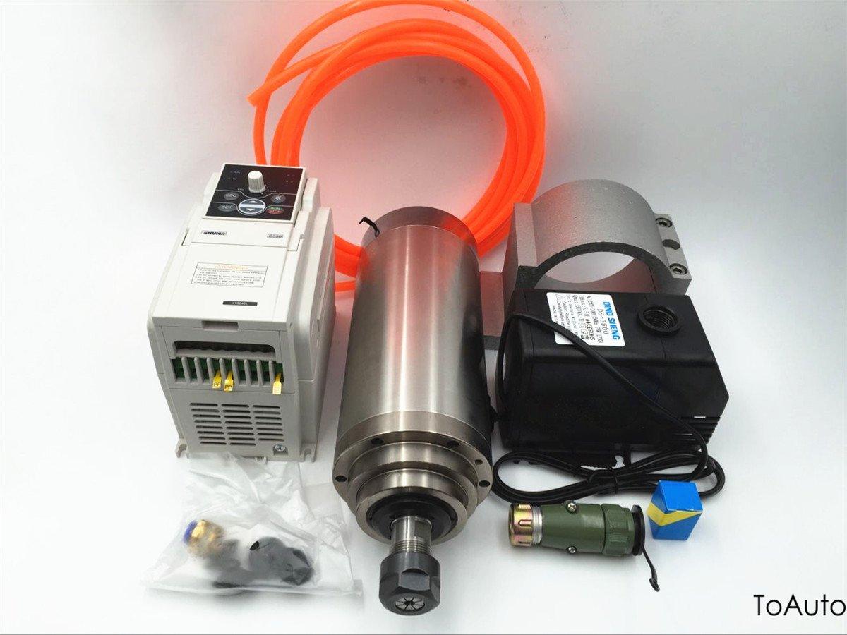 Spindle Motor 4.5KW & VFD Driver Inverter CNC Engraving Kit 220V ER20 4 Bearings 13A 24000rpm