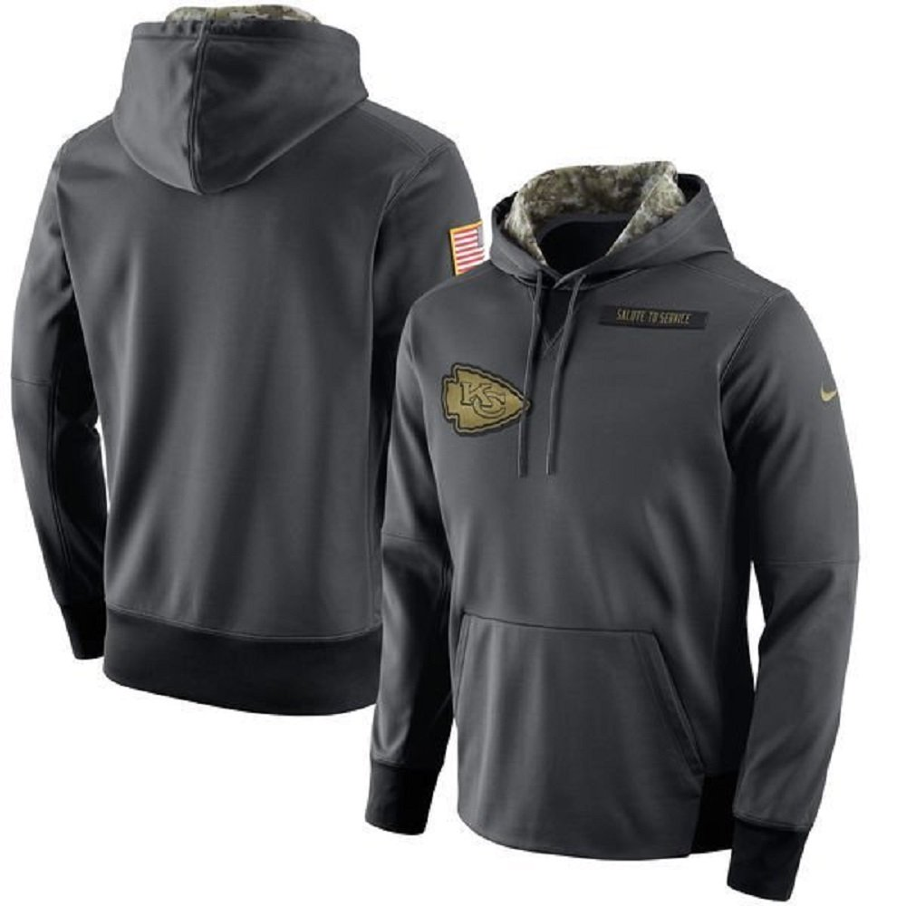 9d441d06c Amazon.com  NIKE Men s NFL Kansas City Chiefs Salute to Service Fleece  Pullover Hoodie 805396-060 (Medium)  Clothing