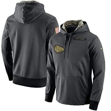 b40c669155a Image Unavailable. Image not available for. Color  NIKE Men s NFL Kansas  City Chiefs Salute to Service Fleece Pullover Hoodie ...