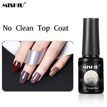 Amazon Com Mishiu No Clean Top Coat Soak Off Gel Nail