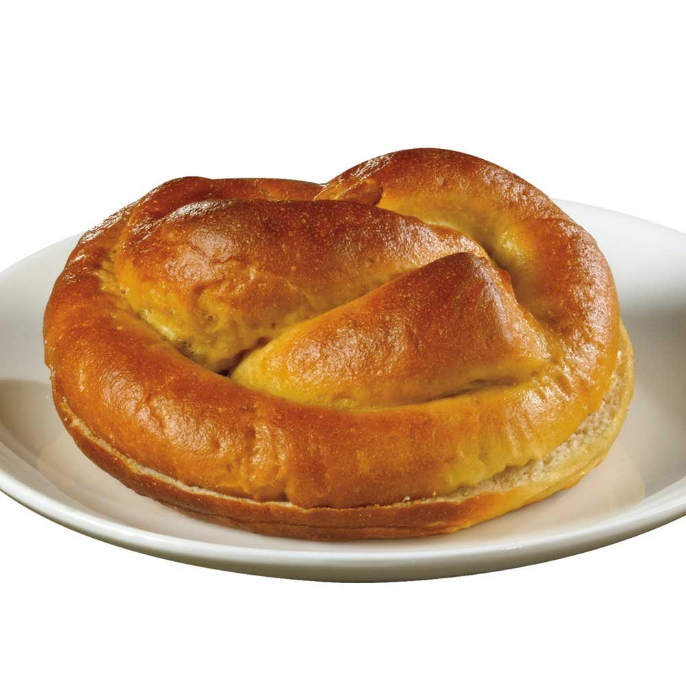 Bavarian Bakery Giant Sliced Coburg Pretzel Roll, 4 Ounce -- 72 per case. by J and J Snack