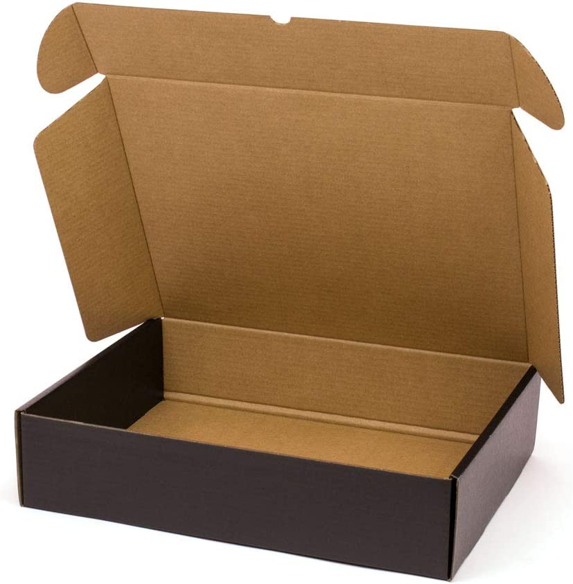 Kartox   Caja De Cartón Negra para Envío Postal   Caja Automontable ideal para Regalo   Caja de Cartón Resistente   Talla XL   41,7 x 32,4 x 9,8 cm   20 unidades: Amazon.es: Oficina y papelería