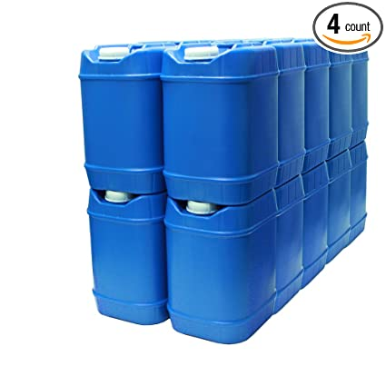 5 Gallon Stackable Water Containers (20 Total Gallons), Emergency Water  Storage Containers
