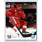 ed8e50c78a139 Pavel Datsyuk Autographed Detroit Red Wings Style Reebok Gloves ...