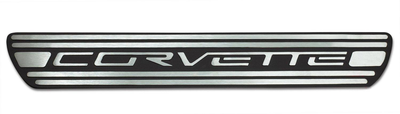 DefenderWorx 900610 Two-Tone Door Sill for Corvette C6 Pair