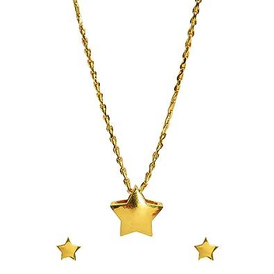 Buy Benud Behari Dutt 22kt Gold Pendant For Girls At Amazon In