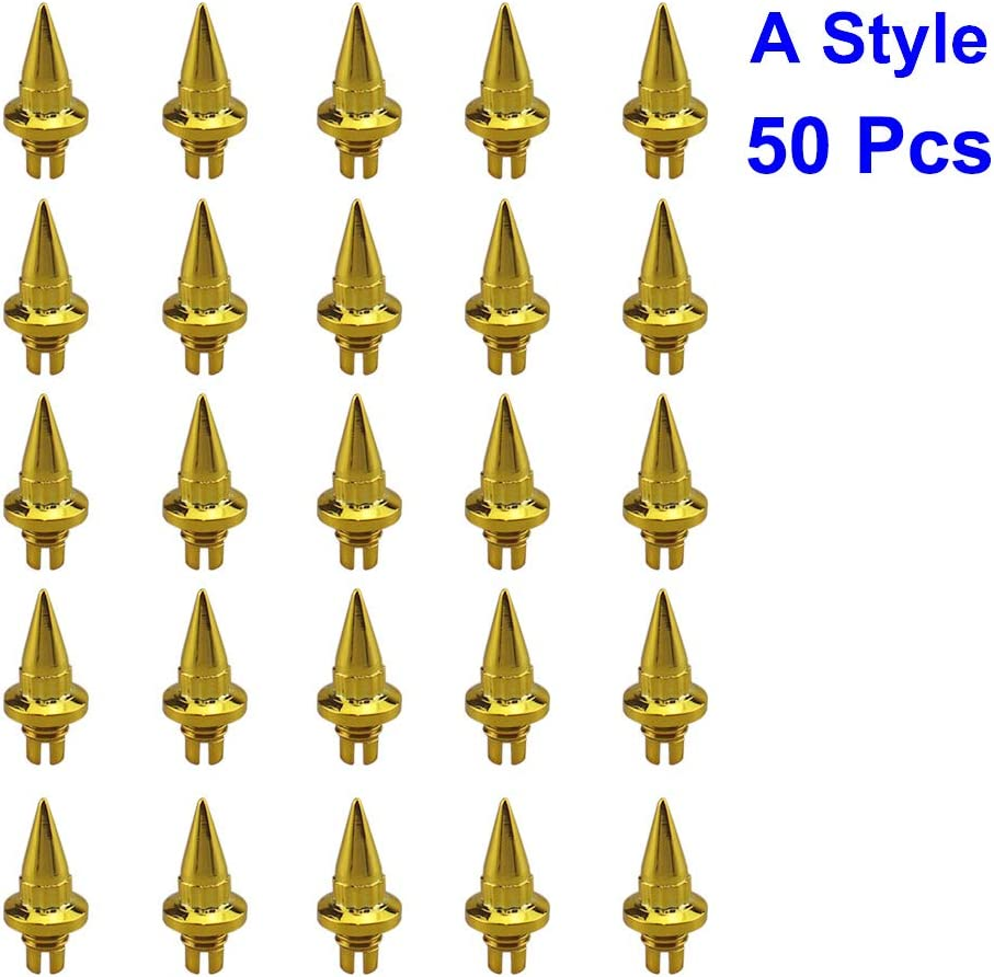 LGMD001x50pcs-JT-Gold Car Wheel Rivets Plastic Spike Rivet For Wheel Rims Cap Lip Screw Bolt Tires Car Styling Tunning LIP Rivets 50pcs//set Brand New Gold//Silver
