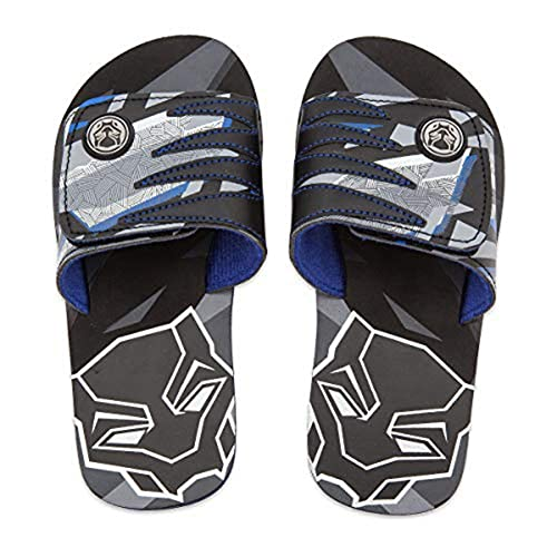 bb9b985510 Image Unavailable. Image not available for. Color: Marvel Black Panther  Sandals For Kids - Flip Flops Beach Water Shoes ...
