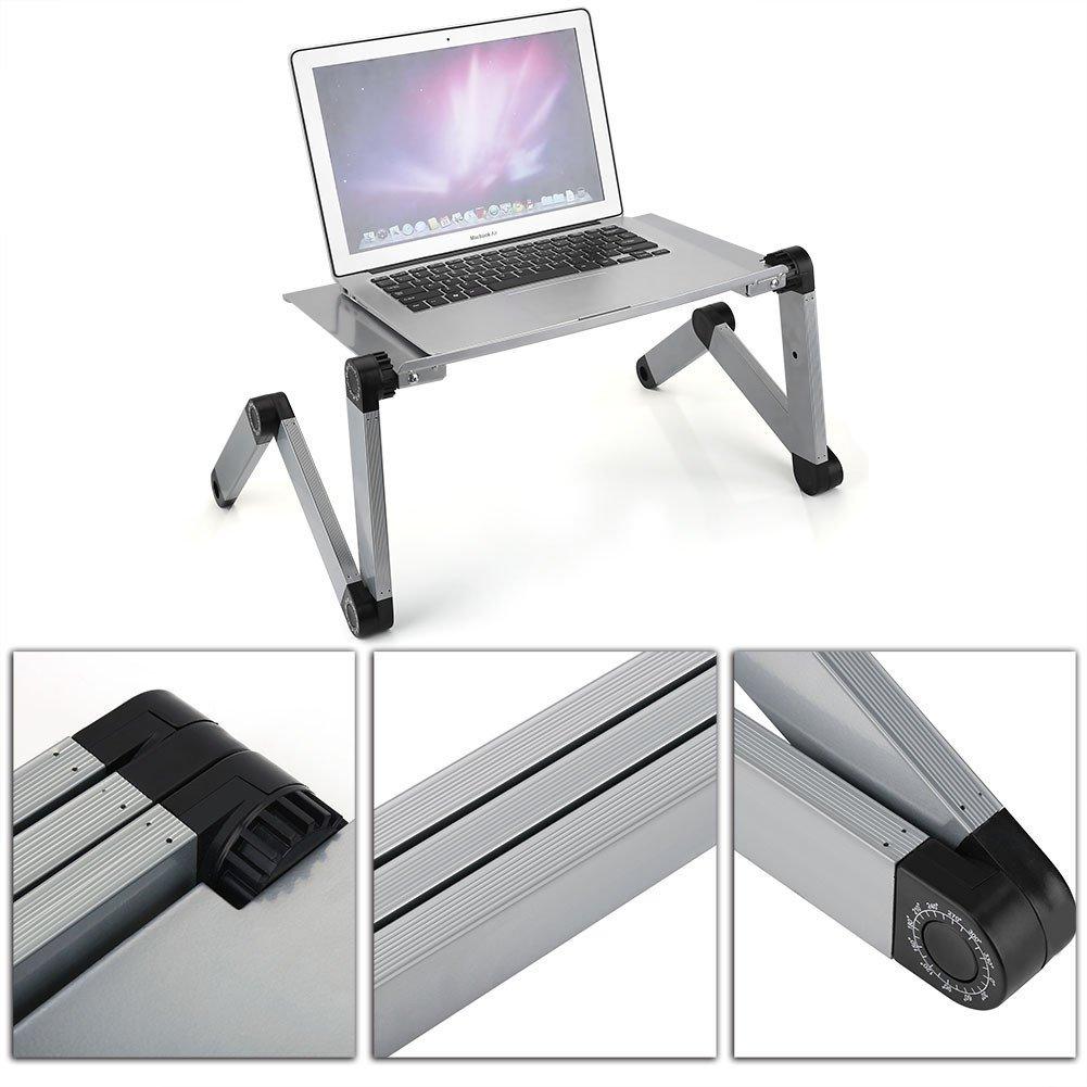 Mesa PC Soporte PC Ajustable y Plegable GOTOTOP Mesa Plegable para PC Apta para Cama//Sof/á//Mesa Bandeja Plegable para Compute Escritorio de aleaci/ón de Aluminio