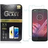 Ok Accessories Moto Z3 Play Mica Cristal Templado, Moto Z3 Play Protector Pantalla, 9H+ 3D Vidrio Glass Pantalla [ Unfull Cobertura] [ Anti-Burbujas] Pare Moto Z3 Play (Transparente)