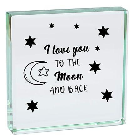 I Love You a la luna y parte posterior media luna y ...