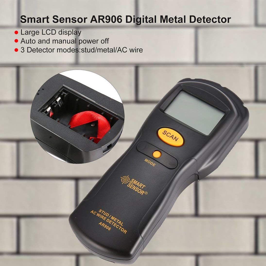 Smart Sensor AR906 Digital Metal Detector Metal Studs AC Wire Detect Wall Scanner Electric Box Finder Wall Detector: Amazon.es: Bricolaje y herramientas