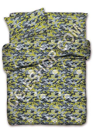 Misure Copripiumino Matrimoniale Flou.Confezioni Giuliana Copripiumino Una Piazza E Mezza 1 1 2 Camouflage