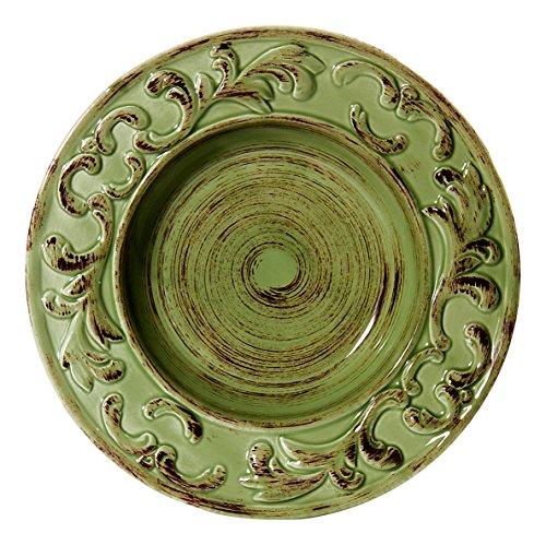 Intrada BAR7432G Baroque Soup Plate, Green