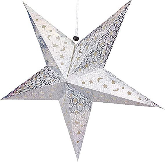 Or EUROPALMS Étoile Lanterne Papier 75 CM