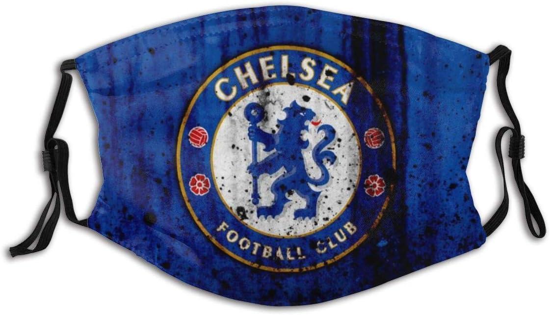 GABRI Mundschutz Gesichtsschutz Chelsea Football Team Logo 1 Antistaub Waschbar und Wiederverwendbar Bandana mit Filtern