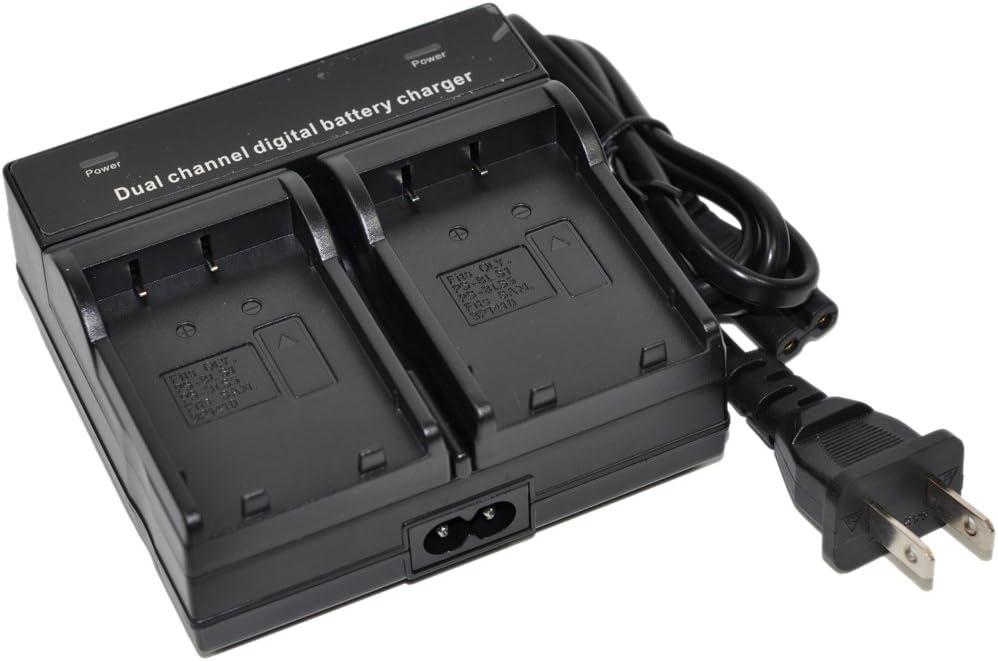 BN-VF707U Battery Charger AC Dual for VF714U VF714 VF733U VF733 VF707 GR D275U D270U D370U D290U D250U D250 D350U GZ MG20U MG35U MG30 MG21U MG77U MG27U MG37U