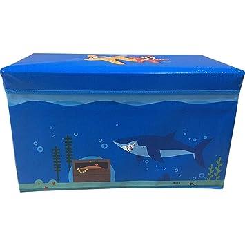 Caja grande infantil para almacenamiento de juguetes grandes, para guardar ropa o libros de niños y niñas y asiento taburete: Amazon.es: Hogar