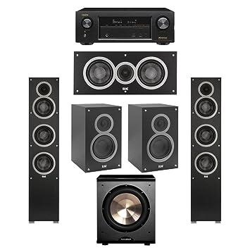 Elac 51 System With 2 Debut F5 Floorstanding Speakers 1 C5 Center Speaker
