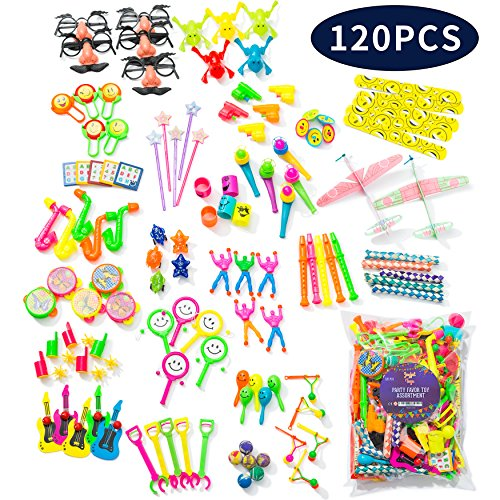 Party Favor Toys for Kids Birthday Toy Assortment for Boys & Girls. Big Bulk Toys of 120 pcs Pack for Pinata, Goodie Bags, Prizes (Toys For Boys Big)