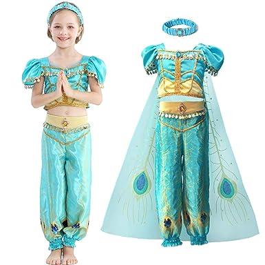 Tutu Dreams - Disfraz de Princesa Pavo Real de jazmín para niña ...
