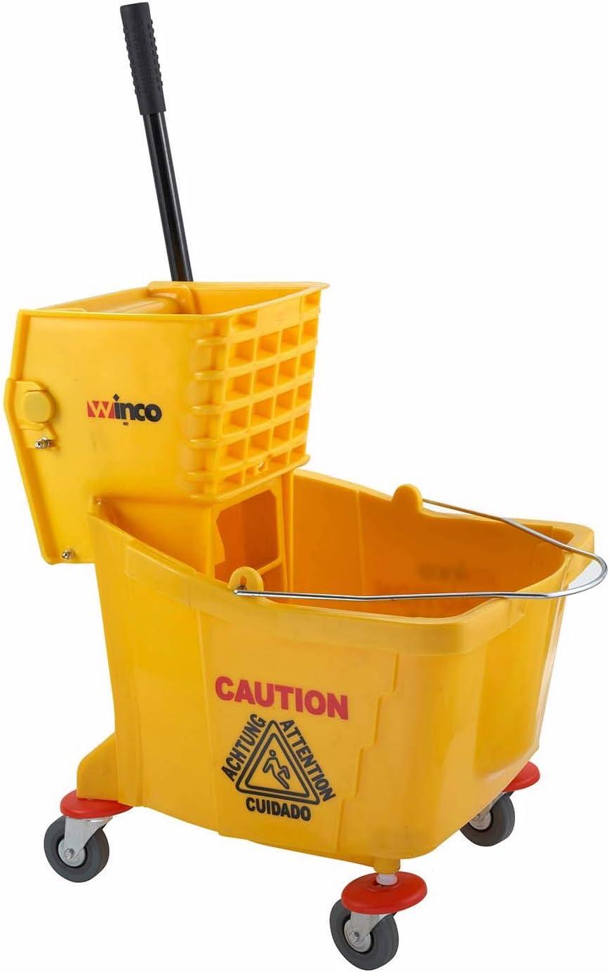 Winco MPB-36 Mop Bucket, Medium, Tan