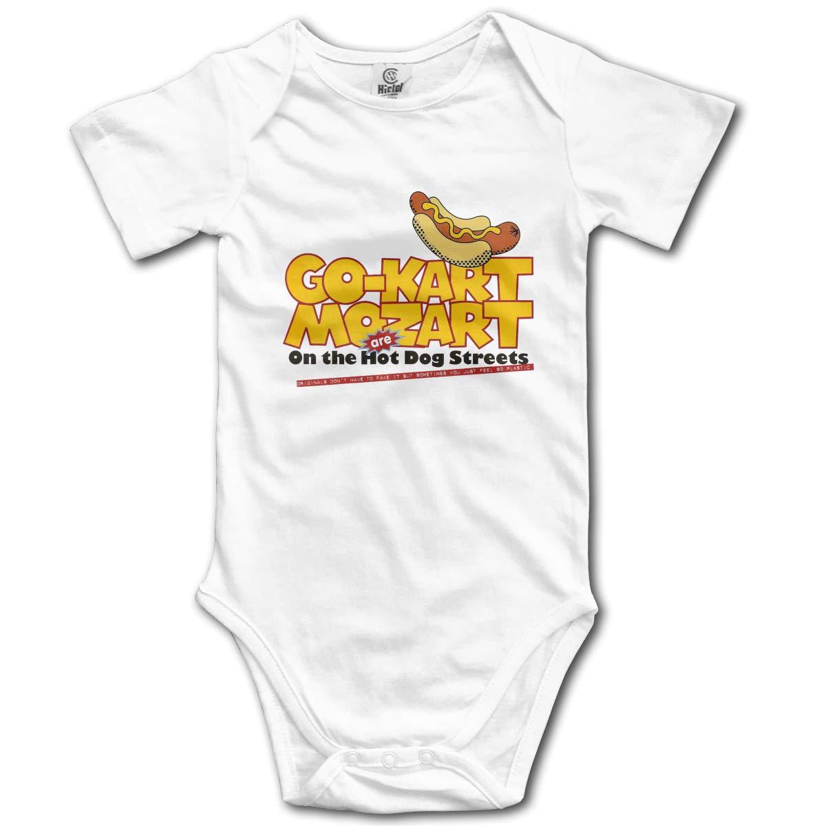 VANMASS Infant Babys Hot Dog Short Sleeve Climbing Bodysuits Baby Playsuit