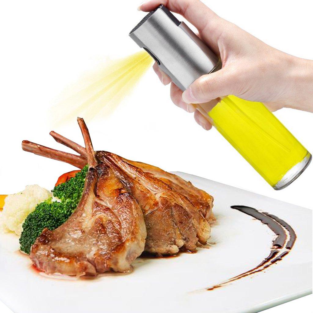 Oil Dispenser, Oil Sprayer Olive Oil Sprayer Glass Bottle Oil Mister Kitchen Grill Pot Cooking Tool 100ML for Salad Frying Baking BBQ (3.42 oz) Weiding