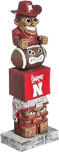 Evergreen NCAA Nebraska Cornhuskers Tiki Totem