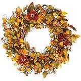 The Wreath Depot Highland Silk Fall Door Wreath, 22 inches