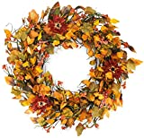The Wreath Depot Highland Silk Fall Door Wreath, 22 inches