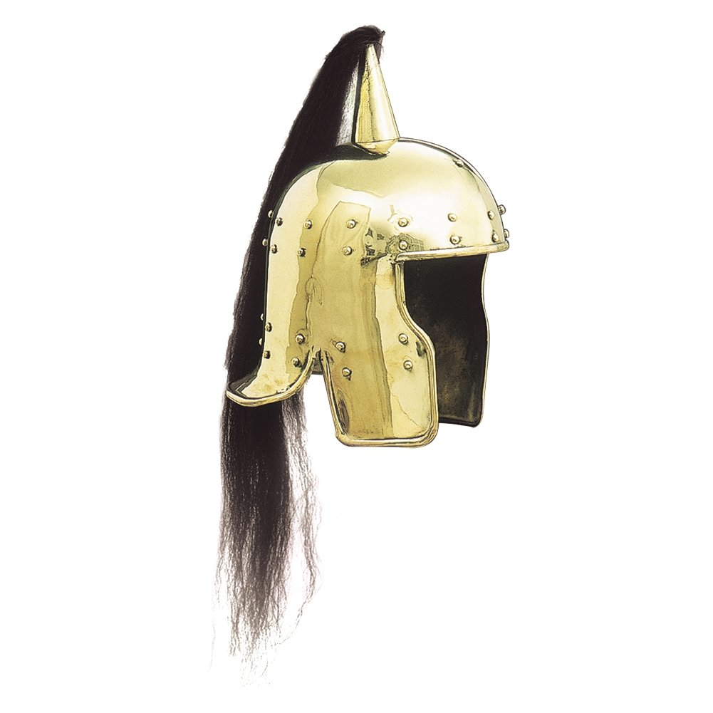 NAUTICALMART Roman charioteer Armor Helmet- One Size Fit Most - Brass Armor - by
