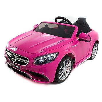 Babycoches - Coche eléctrico para niños Mercedes Benz S63, con LICENCIA OFICIAL, con mando a distancia para control parental, 12V, color rosa: Amazon.es: ...