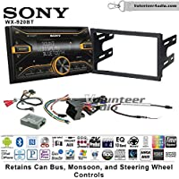 Volunteer Audio Sony WX-920BT Double Din Radio Install Kit with Bluetooth, Pandora, and SiriusXM Ready For 2003-2005 Volkswagen Golf, Jetta, Passat with Amplified Systems