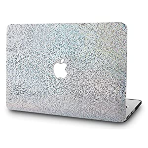 "LuvCase MacBook Pro 13 Case 2017 & 2016 Plastic Hard Shell Cover for MacBook Pro 13.3"" A1706 / A1708 with/without Touch Bar (Silver Glitter)"