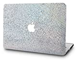 KEC MacBook Pro 13 Inch Case (CD Drive) Plastic Hard Shell Cover A1278 (Silver Gliter)