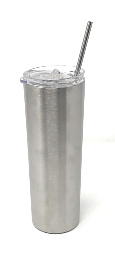b740e3cc886 Image Unavailable. Image not available for. Color: UpPeak 20 oz Stainless  Steel Skinny Tumbler, Double Wall ...