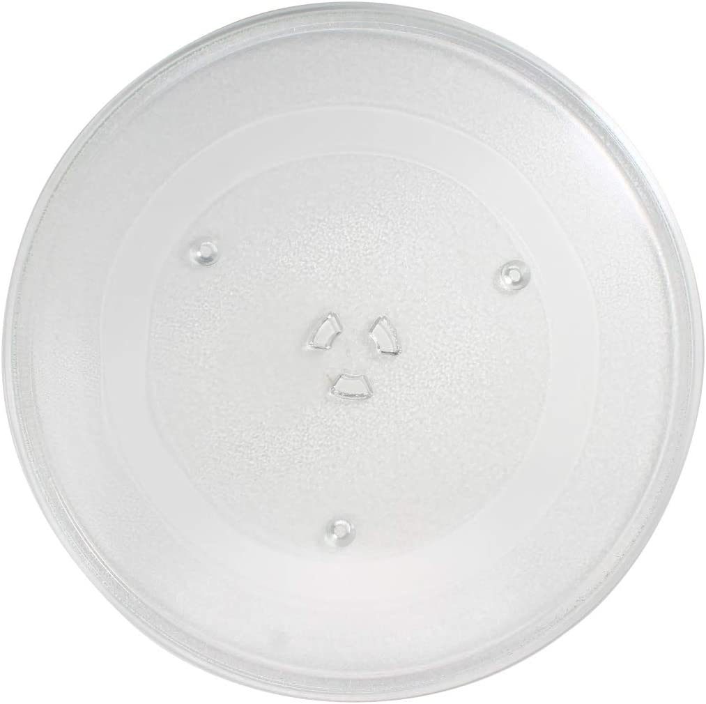 WB49X10063 Microwave Glass Turntable Plate Replacement for General Electric JVM1950SR1SS - Compatible with WB49X10063 14 1/8 Inch Glass Tray