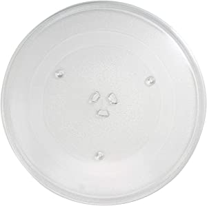 WB49X10063 Microwave Glass Turntable Plate Replacement for General Electric JVM1851BF001 - Compatible with WB49X10063 14 1/8 Inch Glass Tray