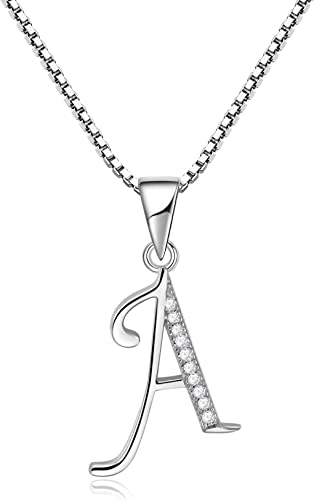 Initial e Necklace Crafted in 925 Sterling Silver 16-18in Adjustable