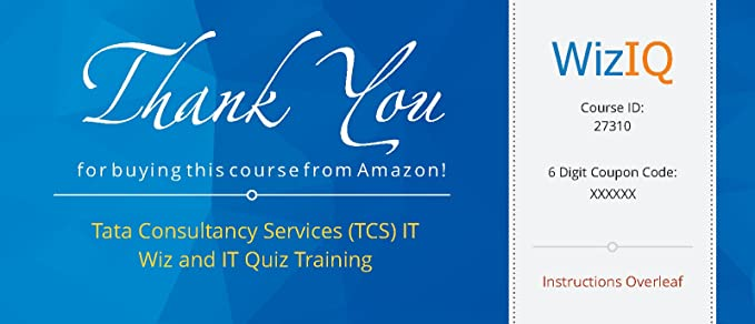 Tata Consultancy Services (TCS) IT Wiz and IT Quiz Training (Voucher
